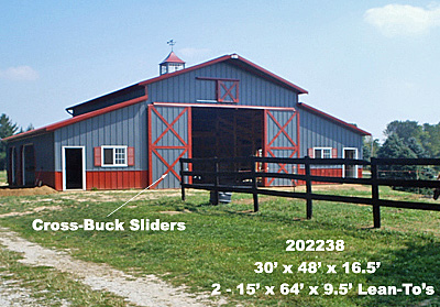 Cross Buck Slider Doors