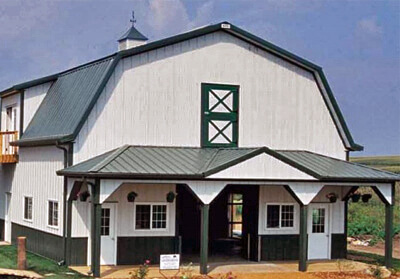 Gambrel Pole Barn