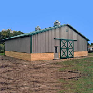 Horse Barn Builders Equestrian Run In Shed Michigan 1