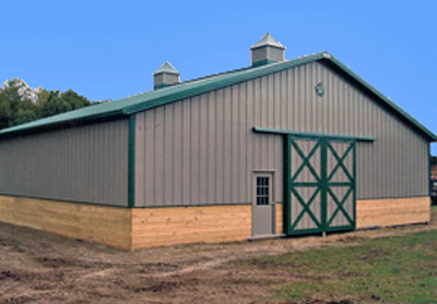 Horse Barn - Run-In Shed - 40' x 48' x 12'