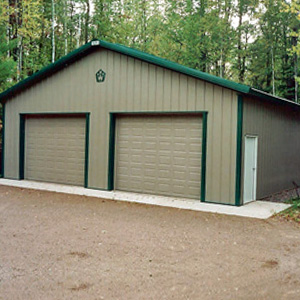 Metal Building Garage Residential Michigan 1