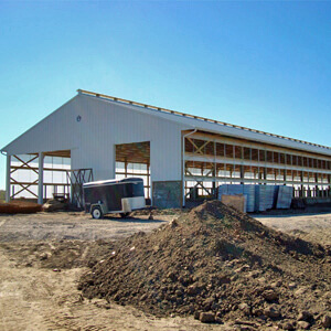 Metal Building Large Dairy Farm Construction Mi 1