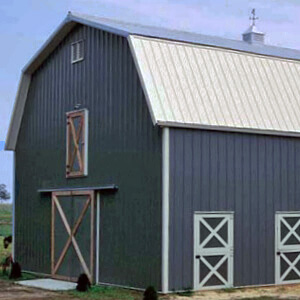 Pole Barn Gambrel Metal Building Mi 1