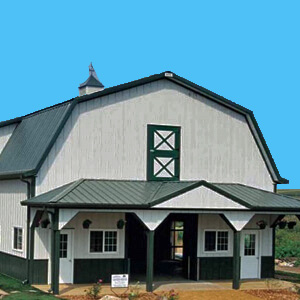 Pole Barn Gambrel Metal Building Mi 2