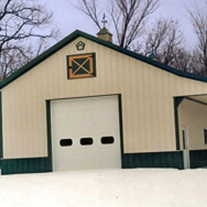 Pole Barn Metal Building Garage Residential Michigan 1
