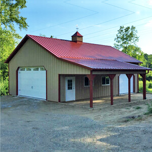 Pole Barn Metal Prefab Residential Mi 1