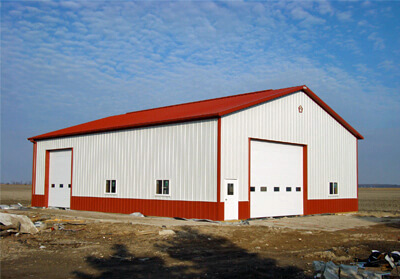 Residential/Agricultural Steel Storage Building - 48' x 64' x 16'