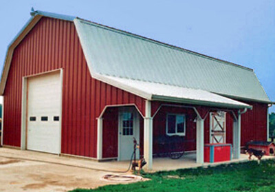 Residential Pole Barn - 30' x 40' x 10'