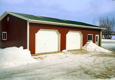 Large Machinery Storage/Shop Steel Building at a Farm - 81' x 238' x 18