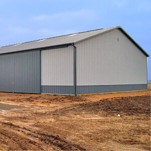 Steel Pole Building Large Machine Storage Mi 1